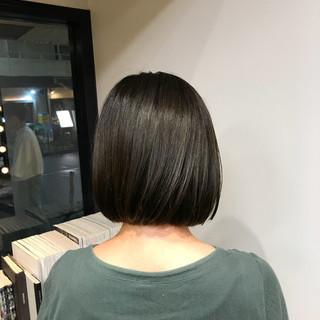 グレージュ 外国人風 大人女子 ボブ ヘアスタイルや髪型の写真・画像