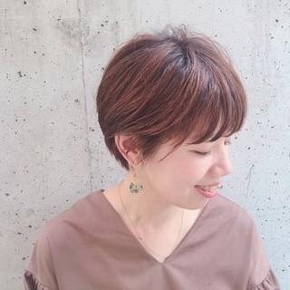 夏 ヘアオイル ショート 前髪あり ヘアスタイルや髪型の写真・画像