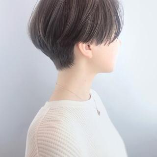大人ハイライト ショート コンサバ ハンサムショート ヘアスタイルや髪型の写真・画像