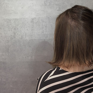 ボブ インナーカラー ナチュラル グレージュ ヘアスタイルや髪型の写真・画像