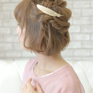 涼しげ 夏 キュート ヘアアレンジ ヘアスタイルや髪型の写真・画像