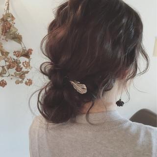 暗髪 ショート ロング 簡単ヘアアレンジ ヘアスタイルや髪型の写真・画像