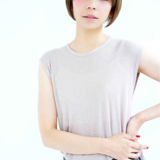 ショート ボブ ダブルバング 艶髪 ヘアスタイルや髪型の写真・画像 ヘアスタイルや髪型の写真・画像