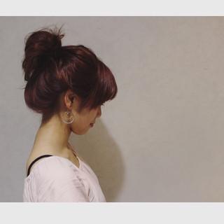 簡単ヘアアレンジ ゆるふわ ヘアアレンジ ワイドバング ヘアスタイルや髪型の写真・画像