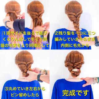 ヘアアレンジ 簡単ヘアアレンジ 女子力 エレガント ヘアスタイルや髪型の写真・画像