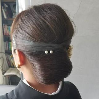 上品 和装 結婚式 ミディアム ヘアスタイルや髪型の写真・画像 ヘアスタイルや髪型の写真・画像