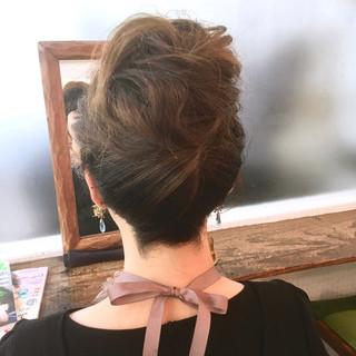 ナチュラル ヘアセット セミロング ヘアアレンジ ヘアスタイルや髪型の写真・画像