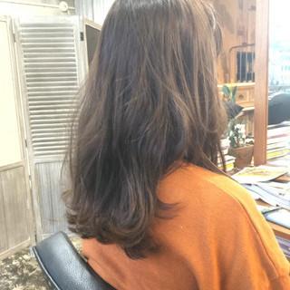 フェミニン セミロング オルチャン ヘアアレンジ ヘアスタイルや髪型の写真・画像