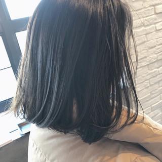 大人女子 ボブ 大人かわいい 暗髪 ヘアスタイルや髪型の写真・画像