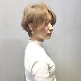 ミントアッシュ ショート ショートヘア ベリーショート ヘアスタイルや髪型の写真・画像