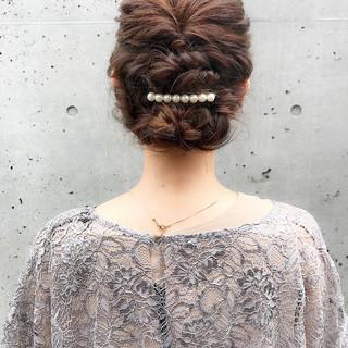 エレガント 上品 ミディアム 二次会 ヘアスタイルや髪型の写真・画像