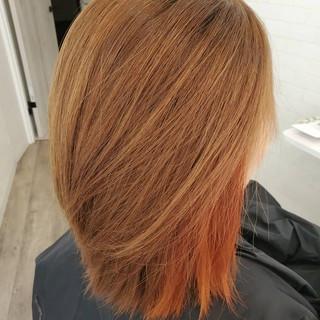 ボブ 縮毛矯正ストカール ガーリー 艶髪 ヘアスタイルや髪型の写真・画像