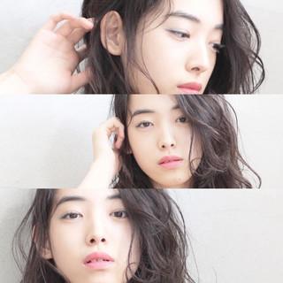 黒髪 暗髪 ナチュラル かわいい ヘアスタイルや髪型の写真・画像