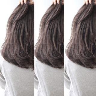 ストリート アッシュ ロング 暗髪 ヘアスタイルや髪型の写真・画像