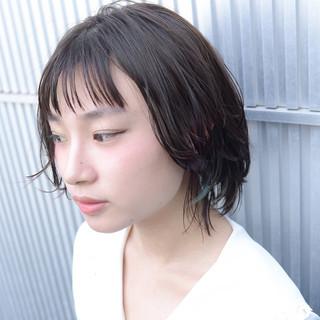 ショート 透明感 アッシュ ナチュラル ヘアスタイルや髪型の写真・画像