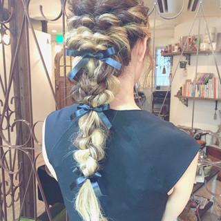 ゆるふわ グラデーションカラー ヘアアレンジ ロング ヘアスタイルや髪型の写真・画像
