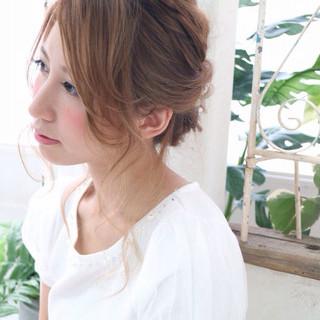 ヘアアレンジ ショート セミロング ハーフアップ ヘアスタイルや髪型の写真・画像