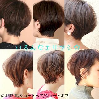 マッシュショート ヘアアレンジ ショートボブ ショートヘア ヘアスタイルや髪型の写真・画像