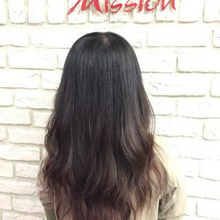 大人かわいい ストリート ピンクアッシュ ロング ヘアスタイルや髪型の写真・画像