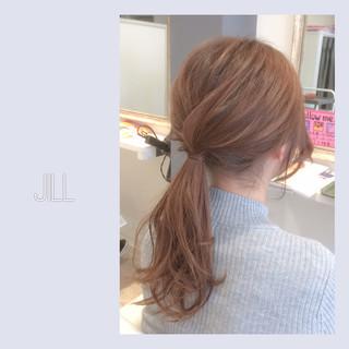 ヘアアレンジ ポニーテール セミロング ショート ヘアスタイルや髪型の写真・画像 ヘアスタイルや髪型の写真・画像