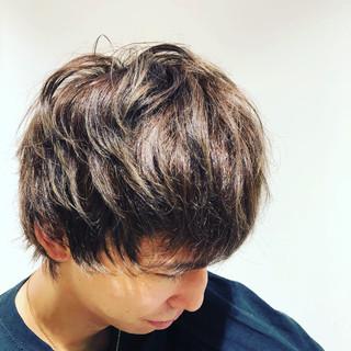 メンズ くせ毛 マッシュウルフ メンズスタイル ヘアスタイルや髪型の写真・画像