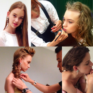 簡単ヘアアレンジ 外国人風 ロング パーマ ヘアスタイルや髪型の写真・画像