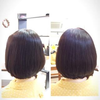 ゆるふわ コンサバ 黒髪 ボブ ヘアスタイルや髪型の写真・画像