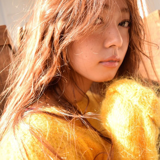 シースルーバング 外国人風 大人かわいい ストリート ヘアスタイルや髪型の写真・画像