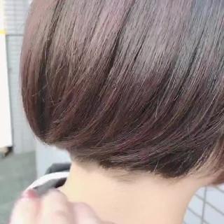 ボブ ピンク ショートヘア ピンクブラウン ヘアスタイルや髪型の写真・画像