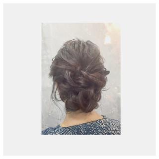 簡単ヘアアレンジ 外国人風 ゆるふわ フェミニン ヘアスタイルや髪型の写真・画像