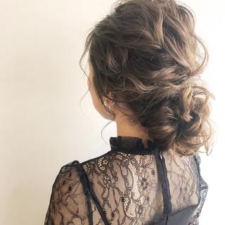 エレガント ルーズ ヘアアレンジ 上品 ヘアスタイルや髪型の写真・画像