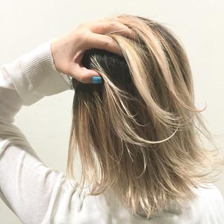 外ハネ ウェットヘア ボブ 外国人風 ヘアスタイルや髪型の写真・画像