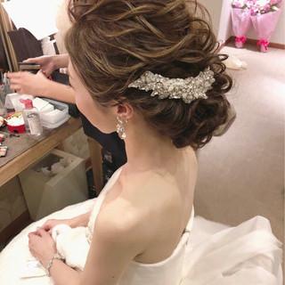 結婚式 フェミニン 大人女子 ゆるふわ ヘアスタイルや髪型の写真・画像