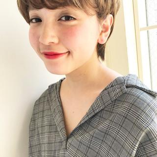 バレンタイン オフィス アウトドア ショート ヘアスタイルや髪型の写真・画像