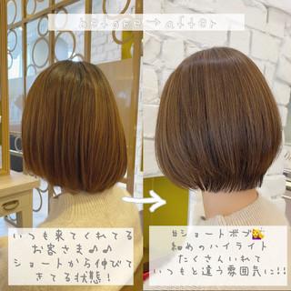 ショートヘア ショート ナチュラル 丸みショート ヘアスタイルや髪型の写真・画像
