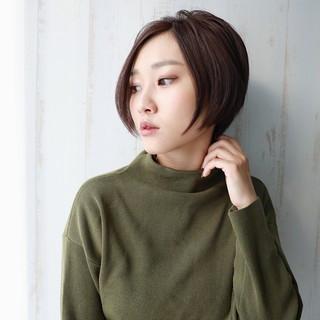 似合わせ ショート 色気 小顔 ヘアスタイルや髪型の写真・画像