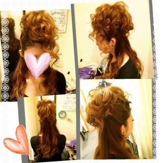 コンサバ ハーフアップ ヘアアレンジ 結婚式 ヘアスタイルや髪型の写真・画像