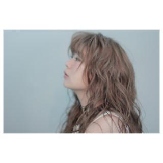 外国人風 ガーリー パーマ ロング ヘアスタイルや髪型の写真・画像