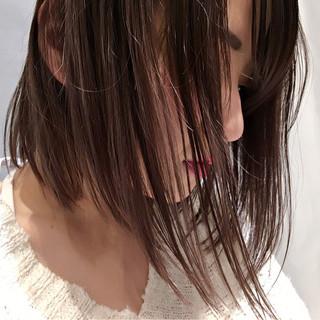 ミルクティー ベージュ ボブ ピンク ヘアスタイルや髪型の写真・画像