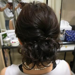 編み込み ふわふわ ヘアアレンジ 結婚式 ヘアスタイルや髪型の写真・画像