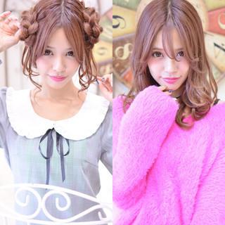 甘辛MIX 冬 編み込み パーマ ヘアスタイルや髪型の写真・画像