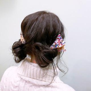 デート ヘアアレンジ 簡単ヘアアレンジ ミディアム ヘアスタイルや髪型の写真・画像 ヘアスタイルや髪型の写真・画像