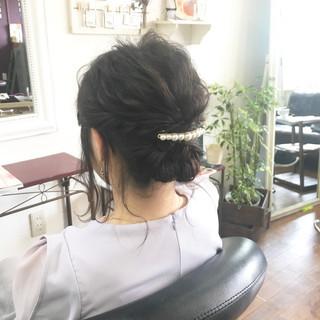 まとめ髪 ナチュラル ヘアアレンジ 黒髪 ヘアスタイルや髪型の写真・画像 ヘアスタイルや髪型の写真・画像