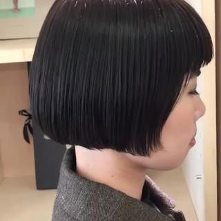 切りっぱなしボブ デート ボブ モード ヘアスタイルや髪型の写真・画像
