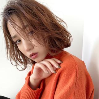 オレンジブラウン ナチュラル ブランジュ 大人ヘアスタイル ヘアスタイルや髪型の写真・画像