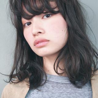 大人かわいい 暗髪 ブラウン 外国人風 ヘアスタイルや髪型の写真・画像