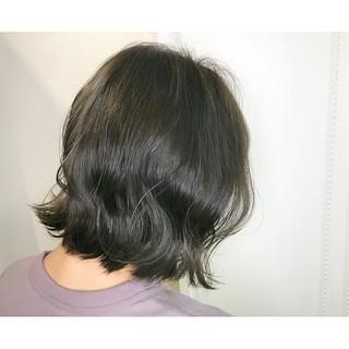 マット 外ハネ 秋 ボブ ヘアスタイルや髪型の写真・画像