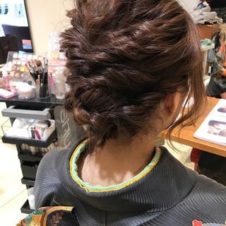 エレガント 編み込み ヘアアレンジ 上品 ヘアスタイルや髪型の写真・画像 ヘアスタイルや髪型の写真・画像
