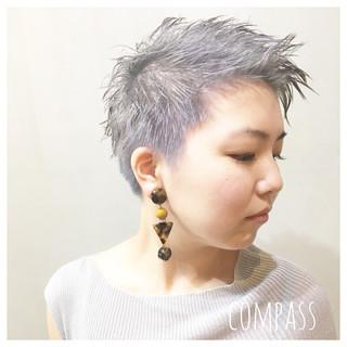 ストリート ウェーブ アンニュイ パープル ヘアスタイルや髪型の写真・画像