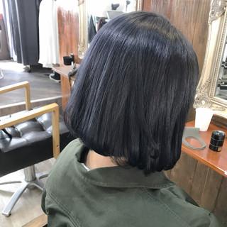 グレー ブルー ネイビーアッシュ ナチュラル ヘアスタイルや髪型の写真・画像 ヘアスタイルや髪型の写真・画像